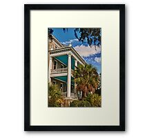 Blue Porches Framed Print