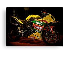 Swan Yamaha R1 Superbike Canvas Print