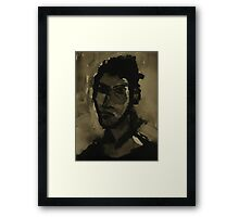 self-portrait in ink Framed Print