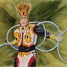 Study of Hoop Dancer by JRobinWhitley