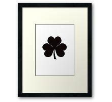 St Patrick Leaf Framed Print