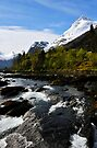 View up river, Olden, Norway by buttonpresser