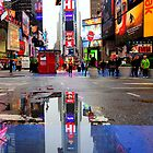 Times Square Reflection by Paul Thompson Photography