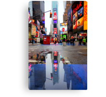Times Square Reflection Canvas Print