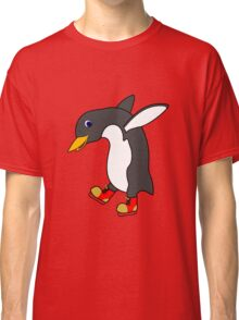 Christmas Penguin with Red & Gold Ice Skates Classic T-Shirt