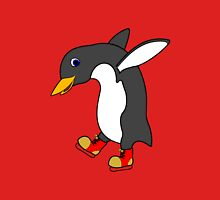 Christmas Penguin with Red & Gold Ice Skates Unisex T-Shirt