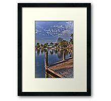 Off the Docks Framed Print