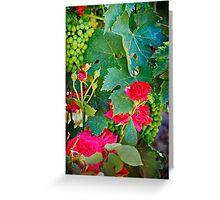 Grapes and Roses Greeting Card