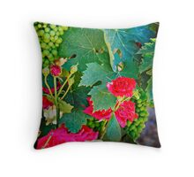 Grapes and Roses Throw Pillow