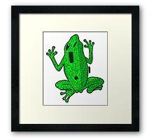 Circuit Frog Framed Print
