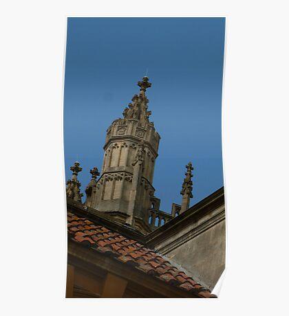 Juat roof in Bath Poster