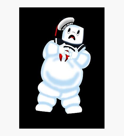 Scared Mr. Stay Puft. Photographic Print
