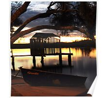 sunset on the Maroochydore River Poster