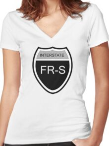 FR-S Interstate Blk Women's Fitted V-Neck T-Shirt
