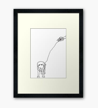 Hand and Dog Framed Print