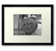 Afraid Clock (Before) Framed Print