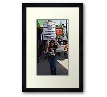 Obama= most deportaions in history Framed Print