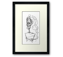 Smoking at the Art Show Framed Print