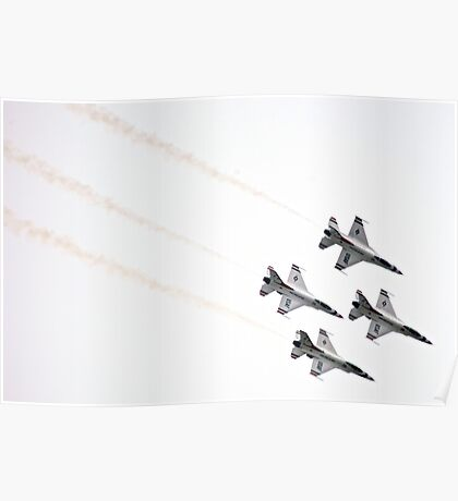 Air Force Thunderbirds Inverted Flying Poster
