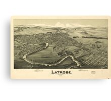 Panoramic Maps Latrobe Pennsylvania 1900 Canvas Print