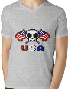Stars and Stripes Mens V-Neck T-Shirt