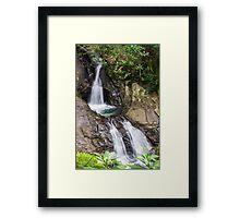 Rockpools Waterfall Framed Print