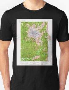 USGS Topo Map Washington State WA Mt Rainier 242664 1924 125000 Unisex T-Shirt