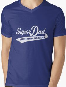 Super Dad – Vice Family Manager (White) Mens V-Neck T-Shirt
