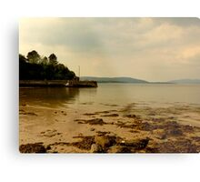 Inch Pier In The Evening Light Metal Print
