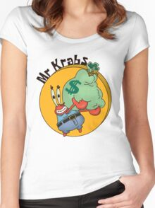 Did you know crabs love money! Women's Fitted Scoop T-Shirt