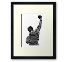 How Hard You Get Hit - Rocky Balboa Framed Print