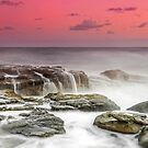 Oceanic Waterfall - Sunshine Coast Australia by Beth  Wode