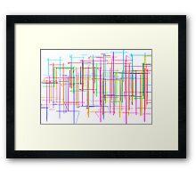 Rainbow Waterfall Framed Print