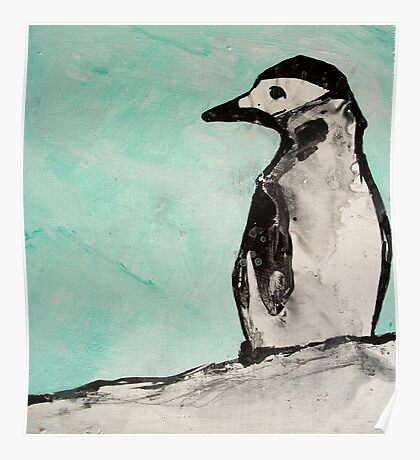 chin strap penguin  Poster