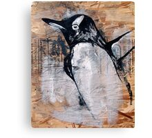 reclaimed penguin  Canvas Print