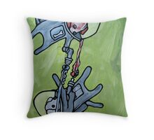 futuristic dog fight!  Throw Pillow