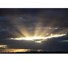 Rays Over Greendale Photographic Print