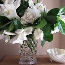 Gardenias in Goblet by Barbara Wyeth