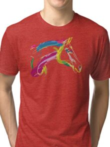 Cool t-shirt, horse Lovely in colours Tri-blend T-Shirt