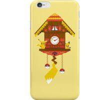 Pikachu-chu Clock iPhone Case/Skin