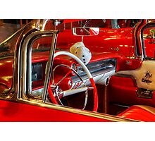 1957 Chevrolet Beauty In Red Photographic Print