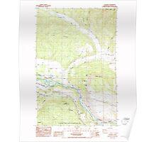 USGS Topo Map Washington State WA Teanaway 244215 1985 24000 Poster