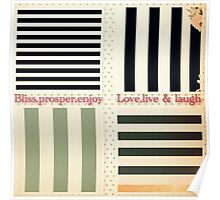 vintage,preppy,stripes,pattern,rustic,collage,girly,trendy,chic, Poster
