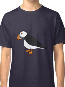 Black & White Puffin Bird with Orange Feet Classic T-Shirt
