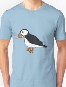 Black & White Puffin Bird with Orange Feet Unisex T-Shirt