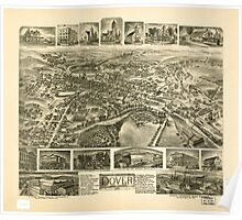 Panoramic Maps Dover New Jersey 1903 Poster