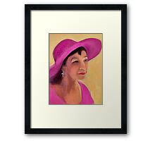The Lady in Pink Framed Print