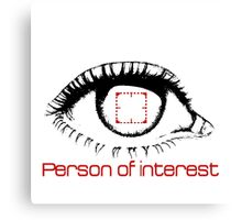 Person of interest Canvas Print