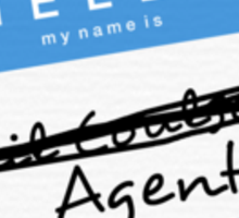 Hi, My name is... Agent? (Blue) Sticker