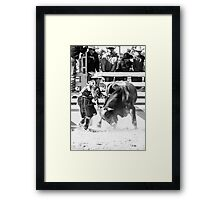 Rodeo Hero Framed Print